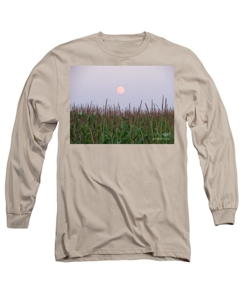 Harvest Moon Long Sleeve T-Shirt by Michael Krek