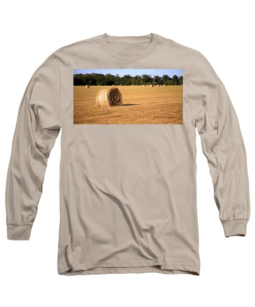 Long Sleeve T-Shirt featuring the photograph Harvest Time by Gordon Elwell