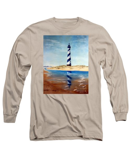 Hatteras Lighthouse Long Sleeve T-Shirt by Lee Piper