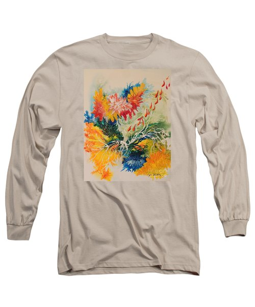 Long Sleeve T-Shirt featuring the painting Heading Down #1 by Lyn Olsen