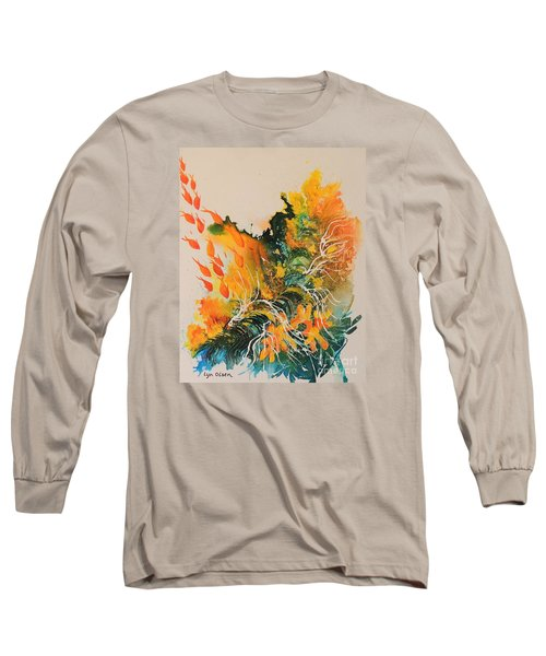 Long Sleeve T-Shirt featuring the painting Heading Down #2 by Lyn Olsen