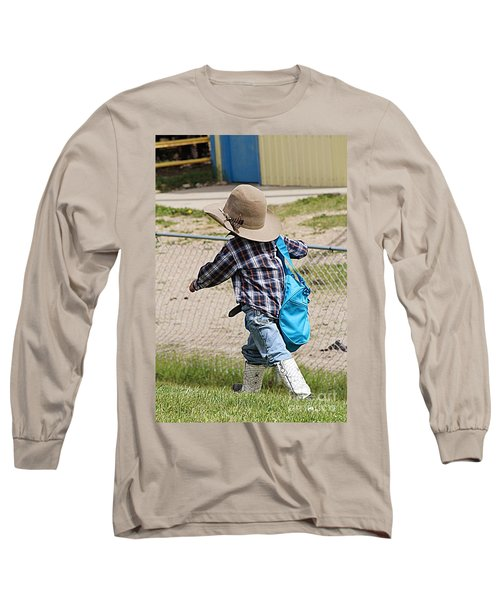 Long Sleeve T-Shirt featuring the photograph Heading For The Chute by Ann E Robson