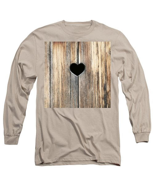 Long Sleeve T-Shirt featuring the photograph Heart In Wood by Brooke T Ryan
