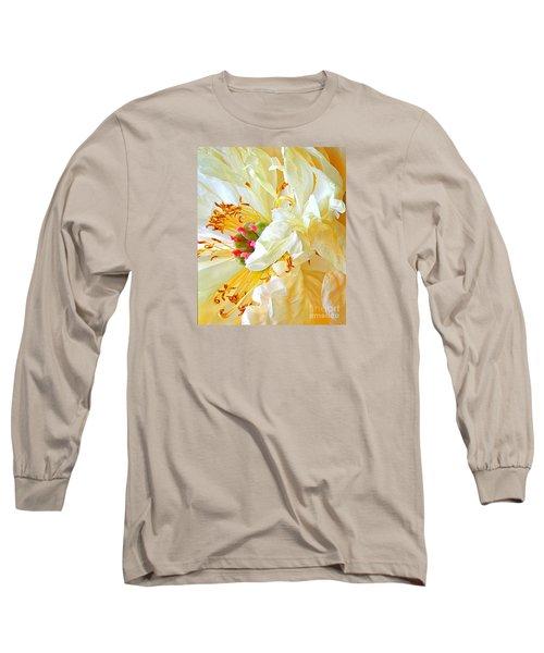 Heart Of Peony Long Sleeve T-Shirt by Nareeta Martin