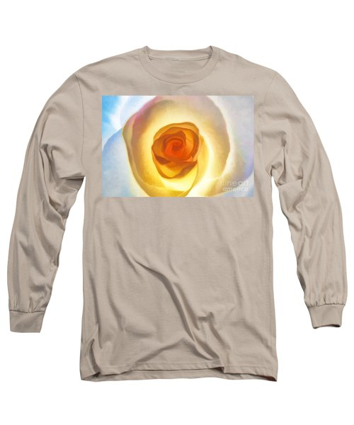 Heart Of The Rose Long Sleeve T-Shirt by Peggy Hughes