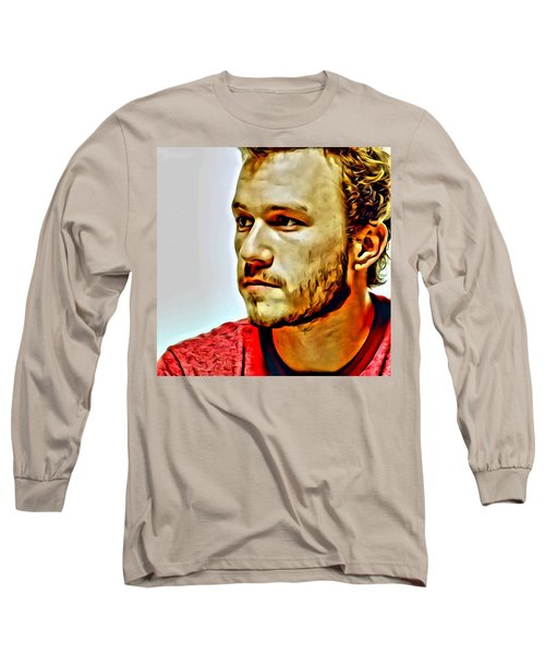 Heath Ledger Portrait Long Sleeve T-Shirt