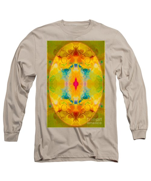 Long Sleeve T-Shirt featuring the digital art Heavenly Bliss Abstract Healing Artwork By Omaste Witkowski  by Omaste Witkowski