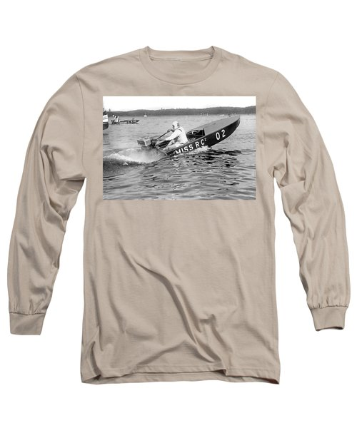 Helen Hentshel Of New York Wins The Class B Outboard Races Long Sleeve T-Shirt