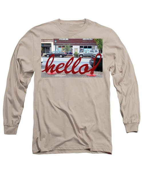 Long Sleeve T-Shirt featuring the photograph Hello by Kelly Awad
