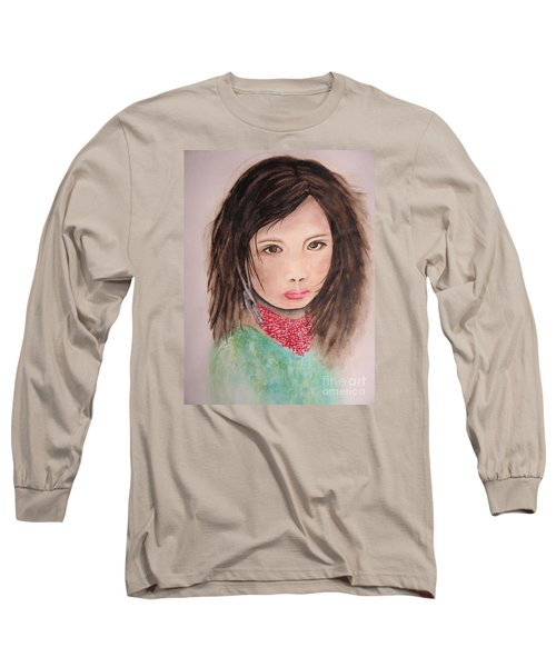 Her Expression Says It All Long Sleeve T-Shirt