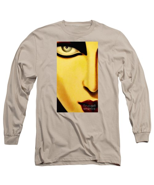 Long Sleeve T-Shirt featuring the photograph Her Face by Newel Hunter