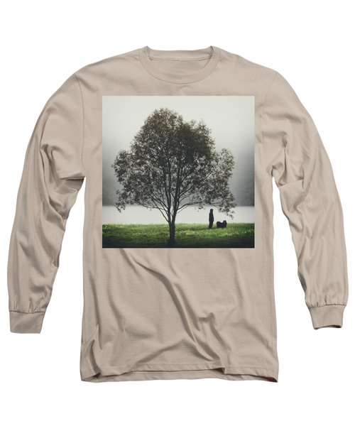 Long Sleeve T-Shirt featuring the photograph Her Life With A Dog by Ari Salmela
