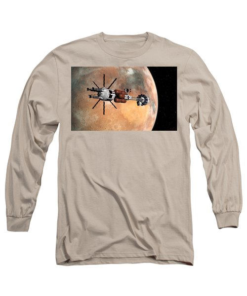 Long Sleeve T-Shirt featuring the digital art Hermes1 Mars Insertion Part 1 by David Robinson