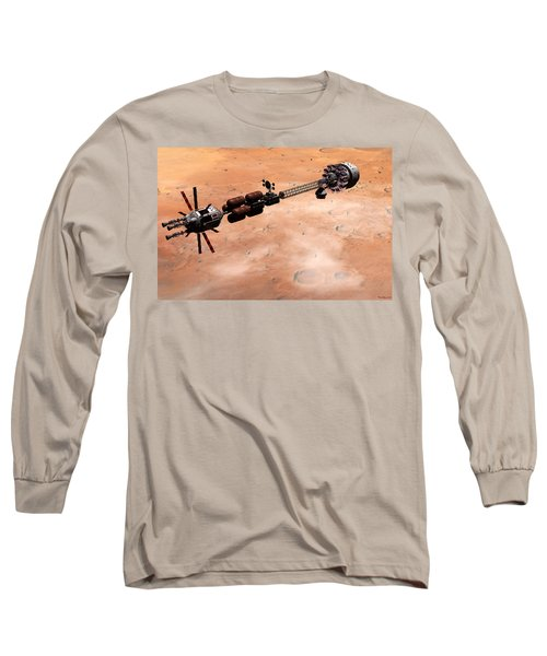 Hermes1 Over Mars Long Sleeve T-Shirt by David Robinson