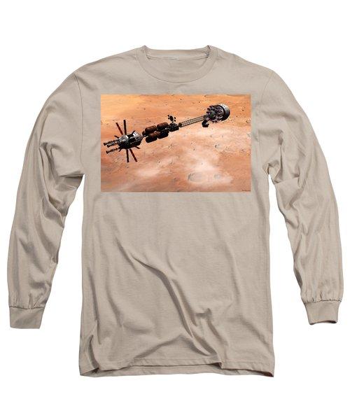 Hermes1 Over Mars Long Sleeve T-Shirt