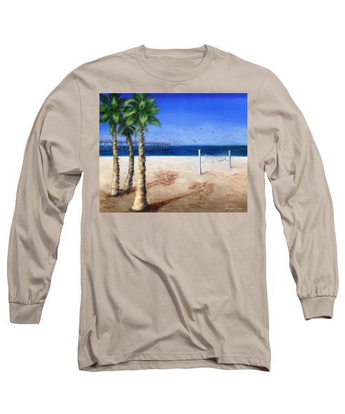 Hermosa Beach Pier Long Sleeve T-Shirt by Jamie Frier