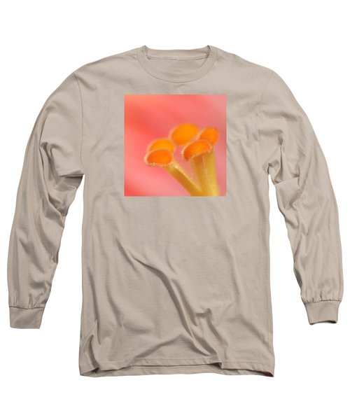 Hibiscus Center Macro Long Sleeve T-Shirt by Chris Anderson