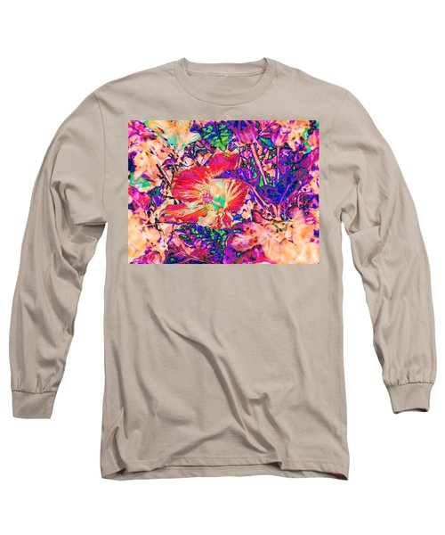 Hiding Hibiscus Long Sleeve T-Shirt