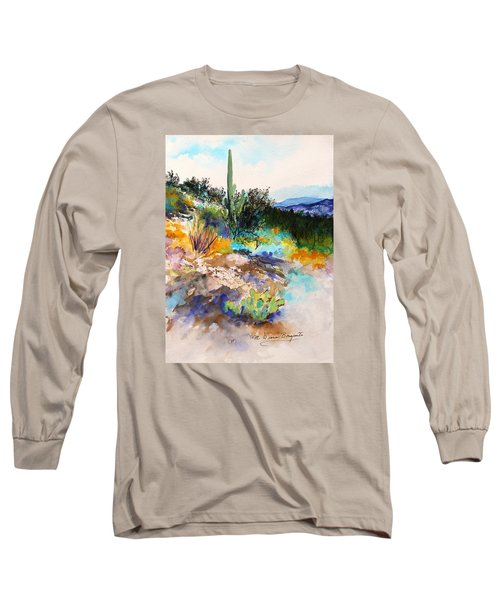 Long Sleeve T-Shirt featuring the painting High Desert Scene 2 by M Diane Bonaparte