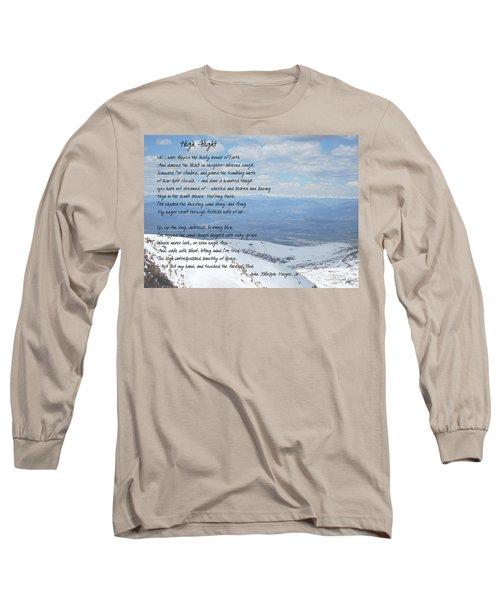 High Flight Long Sleeve T-Shirt by Paulette B Wright