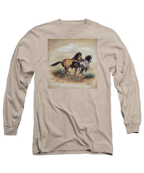 High Tailin' It Long Sleeve T-Shirt by Kim Lockman