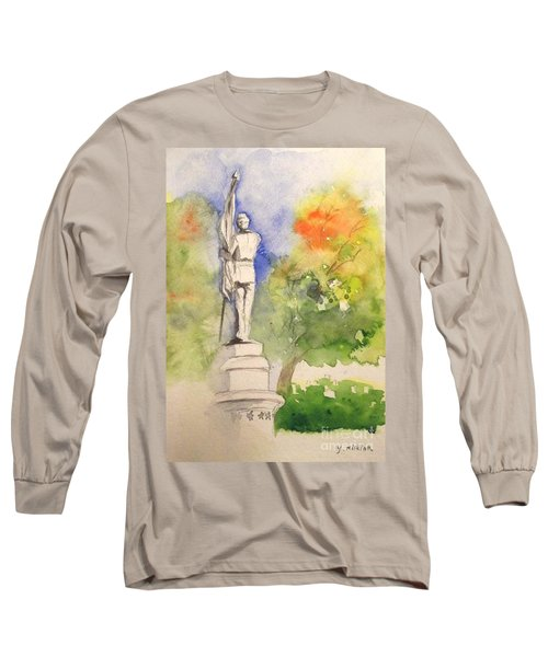 Highland Cemetery-plein Air-ypsilanti Michigan 1 Long Sleeve T-Shirt by Yoshiko Mishina