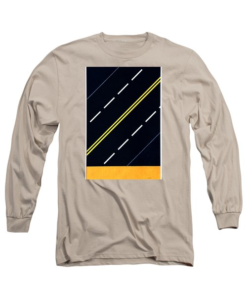 Long Sleeve T-Shirt featuring the painting Highway by Thomas Gronowski