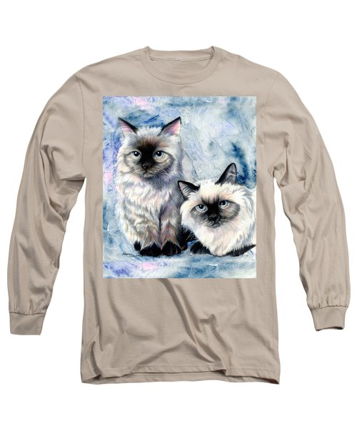 Long Sleeve T-Shirt featuring the painting Himalayan Duo by Sherry Shipley