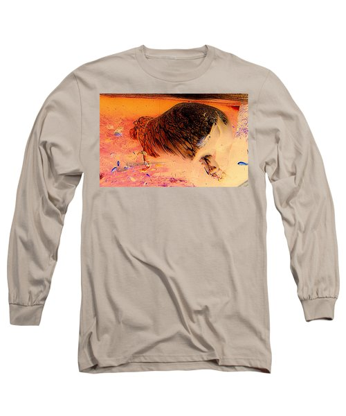 Long Sleeve T-Shirt featuring the photograph Hippo Elegance by Antonia Citrino