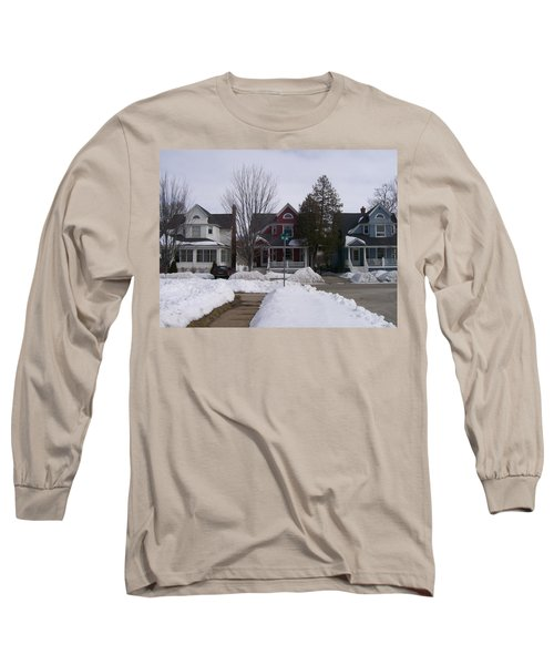 Long Sleeve T-Shirt featuring the photograph Historic Seventh Street Menominee by Jonathon Hansen