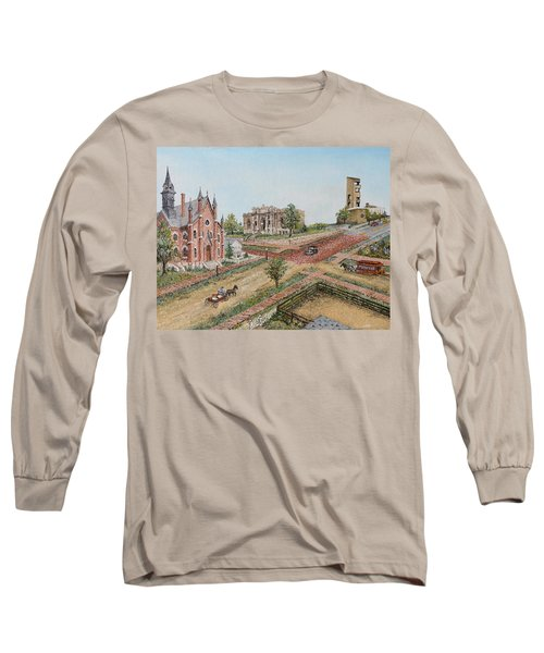 Historic Street - Lawrence Ks Long Sleeve T-Shirt by Mary Ellen Anderson