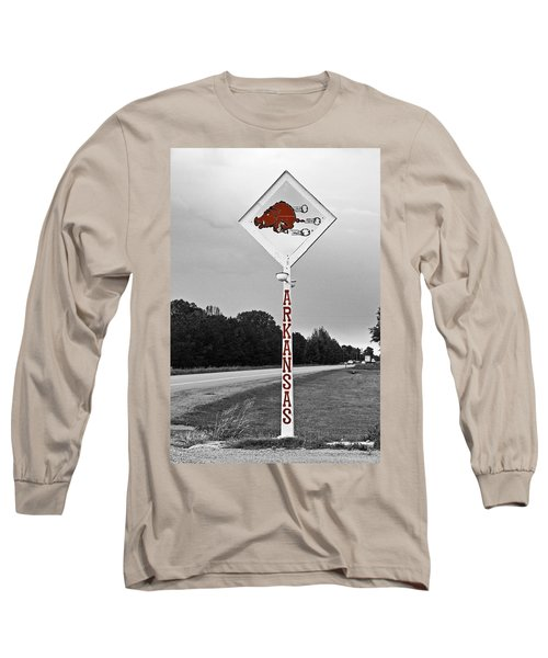 Hog Sign - Selective Color Long Sleeve T-Shirt
