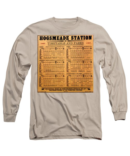 Hogsmeade Station Timetable Long Sleeve T-Shirt