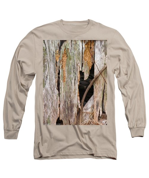 Long Sleeve T-Shirt featuring the photograph Holey Smokehouse by Nick Kirby