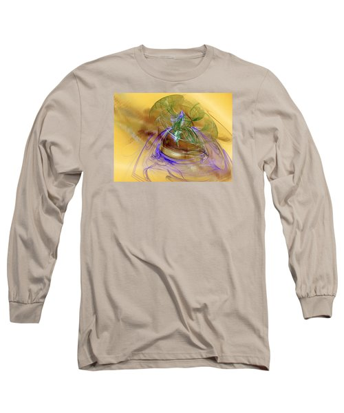 Long Sleeve T-Shirt featuring the digital art Holiday In Cambodia by Jeff Iverson
