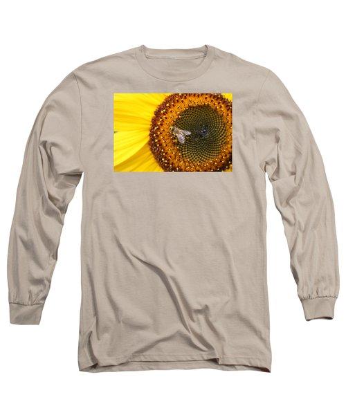 Honeybee On Sunflower Long Sleeve T-Shirt