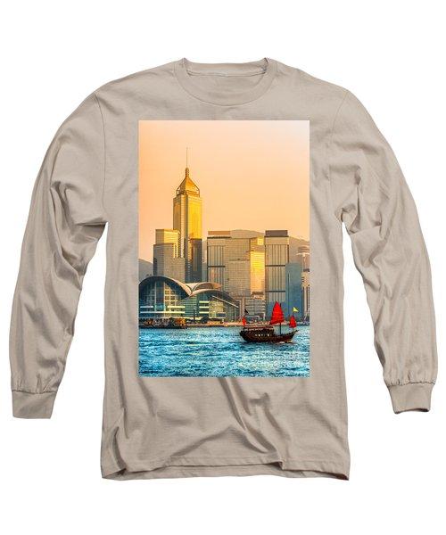 Hong Kong. Long Sleeve T-Shirt by Luciano Mortula
