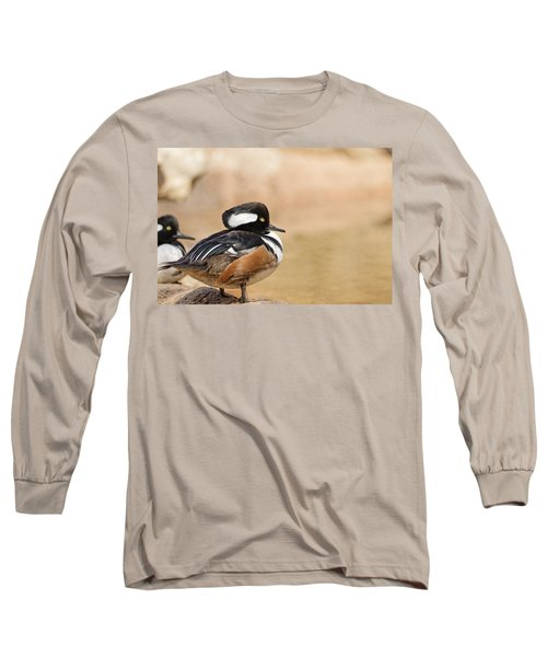 Hooded Merganser Long Sleeve T-Shirt