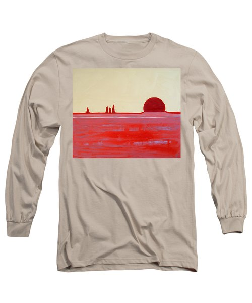 Hoodoo Sunrise Original Painting Long Sleeve T-Shirt