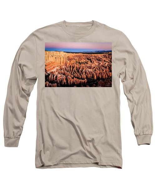 Long Sleeve T-Shirt featuring the photograph Hoodoos At Sunrise by Peta Thames
