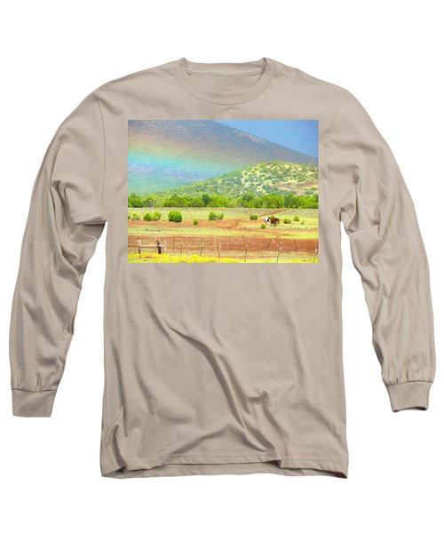 Horses At The End Of The Rainbow Long Sleeve T-Shirt
