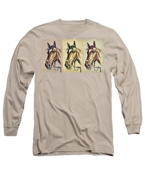 Horses Hand Drawing Long Sleeve T-Shirt