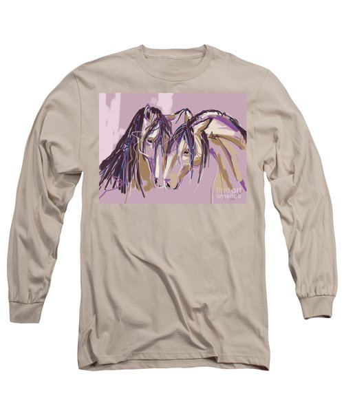 horses Purple pair Long Sleeve T-Shirt