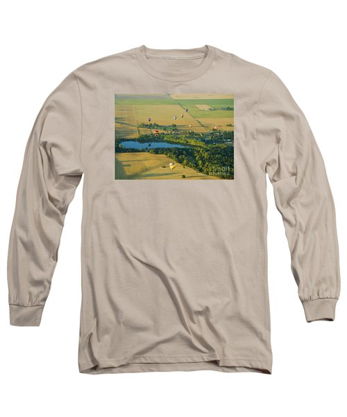 Long Sleeve T-Shirt featuring the photograph Hot Air Reflection by Nick  Boren