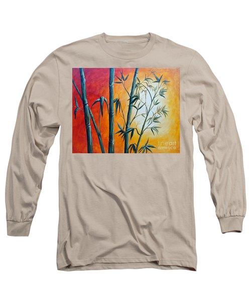 Hot Bamboo Days Long Sleeve T-Shirt