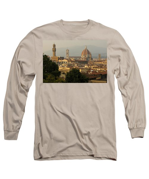 Hot Summer Afternoon In Florence Italy Long Sleeve T-Shirt
