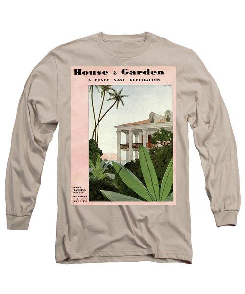 House & Garden Cover Illustration Long Sleeve T-Shirt