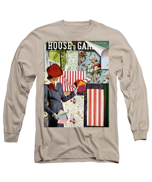 House & Garden Cover Illustration Of A Woman Long Sleeve T-Shirt