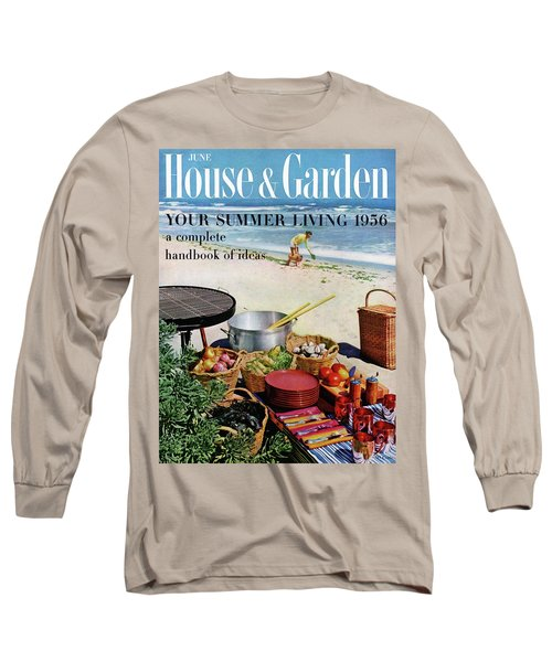 House And Garden Ideas For Summer Issue Cover Long Sleeve T-Shirt