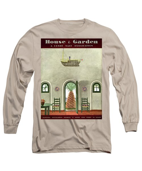 House And Garden Interior Decoration Number Cover Long Sleeve T-Shirt